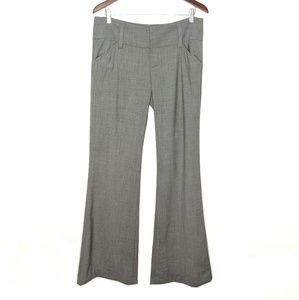 Alice + Olivia Gray Wool Flare Leg Trousers 10